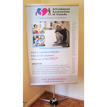 Print Design: Attachment Association of Canada Banner