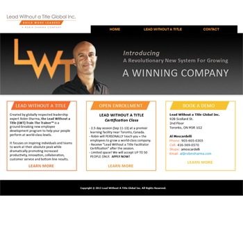 Website Design: Lead Without a Title Global Inc